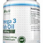 Omega 3 Fish Oil 1000 mg | Huile de poisson/oméga-3 | Cure d'1 An/365 Gélules | Compléments alimentaires de Nu U Nutrition de la marque Nu-U image 1 produit