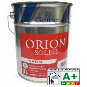 ORION SOLEIL SATIN - GUITTET - Peinture - Laque glycéro Blanc - Satiné 3.00Litre de la marque GUITTET image 0 produit