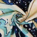 osmanthusFrag Peinture DéCorative De Tapisserie Murale Vague, Tissu De Fond De Chiffon De Surf, Tapisserie De Salon 200 * 150cm de la marque osmanthusFrag image 2 produit