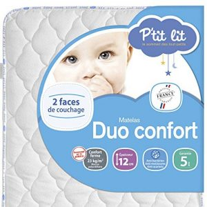 P'tit Lit - Matelas bébé Duo Confort - 70 x 140 x 12 cm - Anti-acariens - Fabrication française de la marque PTIT-LIT image 0 produit