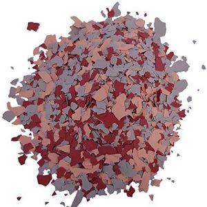 Paillettes colorées pour revêtement epoxy decoratif, resine de sol   mélange (Orange - Rouge - Gris) - 1 Kg de la marque Wowe image 0 produit