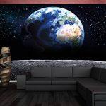 Papier peint de la Planète Terre, décoration de peinture murale de la Terre Lune l'Univers galactique Tous les Cosmos de l'Espace les Etoiles la Lune et l'Espace | mur deco chez GREAT ART (336x 238cm) de la marque GREAT-ART image 1 produit