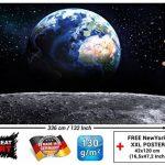 Papier peint de la Planète Terre, décoration de peinture murale de la Terre Lune l'Univers galactique Tous les Cosmos de l'Espace les Etoiles la Lune et l'Espace | mur deco chez GREAT ART (336x 238cm) de la marque GREAT-ART image 2 produit