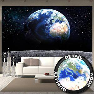 Papier peint de la Planète Terre, décoration de peinture murale de la Terre Lune l'Univers galactique Tous les Cosmos de l'Espace les Etoiles la Lune et l'Espace | mur deco chez GREAT ART (336x 238cm) de la marque GREAT-ART image 0 produit