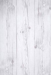 """Papier peint mural en panneau de bois autocollant mural 50cm X 15m (19.6""""X 590""""), 0.15mm Lit de cuisine en PVC imperméable Living Tablette de salle de bain amovible (Vintage White) de la marque enLavish image 0 produit"""
