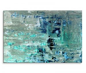 Paul Sinus Art Toile de Peinture Bleue-Vert Style Abstrait/Toile sur châssis 120x 80cm/panoramique de la marque Paul-Sinus-Art image 0 produit