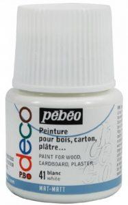 Pébéo 204041 Déco Acrylique Mat 1 Flacon Blanc 45 ml de la marque Pébéo image 0 produit
