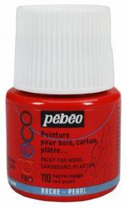 Pébéo 285110 Déco Acrylique 1 Flacon Nacre Rouge 45 ml de la marque Pébéo image 0 produit