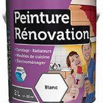 Peinture 2 Litres BLANC Spécial rénovation carrelage cuisine radiateur electromenager de la marque Batir Peintures image 1 produit