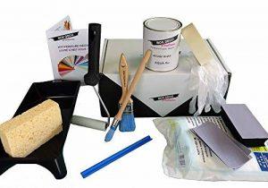 Peinture acrylique aspect velours Aqua bois - Meuble bois - Kit outillages peinture - 34 couleurs - 4 m² (Lin) de la marque BOX-DECO-COULEURS image 0 produit