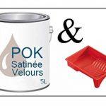 Peinture Acrylique pour murs Satin Lessivable - Rose Poudré - POK SATIN - 5 L + BAC OFFERT de la marque Pok image 1 produit