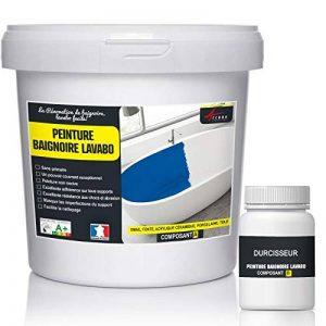 PEINTURE BAIGNOIRE LAVABO - Résine rénovation baignoire lavabo émail salle de bain - RAL 6034 Turquoise Pastel, Kit 1kg jusqu'a 3m² pour 2 couches de la marque ARCANE-INDUSTRIES image 0 produit