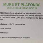 Peinture Blanche Mat Mur et Plafond monocouche - Peinture Blanc Naturelle écologique sans odeur 5L - 50m² - Biologement de la marque BIOLOGEMENT image 3 produit