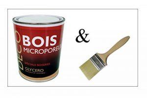 Peinture Bois glycéro microporeuse intérieur extérieur 1L - RAL 7004 Gris de sécurité + Brosse OFFERTE de la marque ICOPEINT image 0 produit