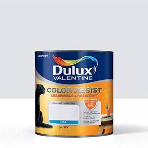 Peinture Color Resist Dulux Valentine - Lessivable et resistante pour Murs & Boiseries - aspect Mat Roc Blanc 1 L - Dulux Valentine de la marque DULUX-VALENTINE image 0 produit