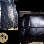 Peinture Cuir/Simili-Cuir/Vinyle - 12 COULEURS proposées - Entretien Pour Siège et Volant de Voiture, Canapé, Chaussure, Veste et autres Vêtements (NOIR SOUL SCHWARZ BLACK - RAL 9011, 125ml) de la marque SOFOLK image 3 produit