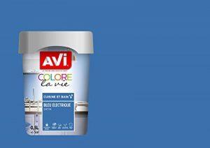 Peinture Cuisine & Bain, Avi Colore la Vie - Bleu Electrique Satin, 0,5L de la marque Avi image 0 produit