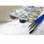 Peinture de Cadre de Bricolage de Paysage d'imaginaire Rural par des Kits de nombres à colorier la Peinture de numéros d'art de Mur Moderne Peint à la Main pour Le Cadeau de Maison de la marque luludsoo image 2 produit