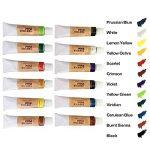 Peinture de couleur de tissu de 12 couleurs avec la palette par Maigcdo, couleurs vives Colorant de peinture de textile professionnel pour les vêtements, tissu, toile, bois (12ml) de la marque Magicdo image 1 produit