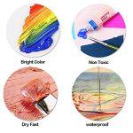 Peinture de couleur de tissu de 12 couleurs avec la palette par Maigcdo, couleurs vives Colorant de peinture de textile professionnel pour les vêtements, tissu, toile, bois (12ml) de la marque Magicdo image 2 produit