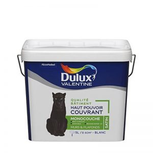 Peinture DULUX VALENTINE qualité bâtiment - haut pouvoir couvrant - monocouche blanc satin 5L de la marque DULUX-VALENTINE image 0 produit