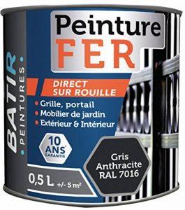 Peinture fer brillante Batir peintures - 0,5 l - Gris anthracite de la marque Sélection-Brico-travo image 0 produit
