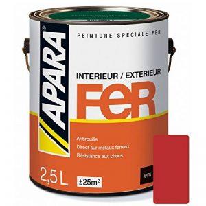 Peinture FER SATIN 2.5 litres Rouge agricole (RAL 3016) de la marque APARA image 0 produit
