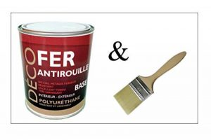 Peinture glycéro Fer Antirouille métaux 1L - RAL 7024 Gris graphite + Brosse OFFERTE de la marque ICOPEINT image 0 produit