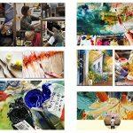 Peinture À L'Huile Peinte À La Main Sur Toile Abstract Animal Peinture, Papillon Coloré ,Vintage Moderne Oriental Art Original Pour Adultes Salon Chambre À Coucher Accueil Décoration Murale,80*8 de la marque WunM Studio image 1 produit