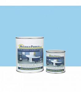 Peinture laque epoxy ultra brillante sanitaire 1 Kg Bleu piscine de la marque MATPRO image 0 produit