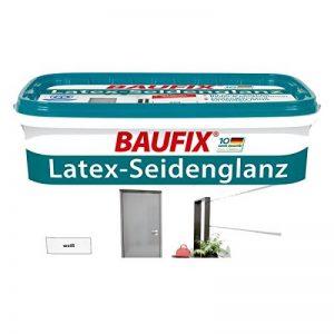 Peinture latex Baufix - Pour les murs - Blanc - Finition satinée - 5 l de la marque Baufix image 0 produit