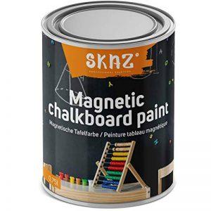 Peinture magnétique 2 en 1 pour tableau mural magnétique hypoallergénique pour intérieur - Idéal pour la chambre des enfants - Noir de la marque SKAZ image 0 produit