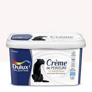Peinture monocouche pour murs, boiseries et plafonds Crème De Peinture Mat Blanc 2,5 L - Dulux Valentine de la marque DULUX-VALENTINE image 0 produit