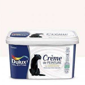 Peinture monocouche pour murs, boiseries et plafonds Crème De Peinture Satin Blanc 2,5 L - Dulux Valentine de la marque DULUX-VALENTINE image 0 produit