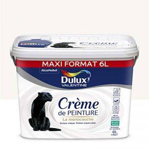 Peinture monocouche pour murs, boiseries et plafonds Crème De Peinture Satin Blanc 6 L Maxi Format - Dulux Valentine de la marque DULUX-VALENTINE image 0 produit