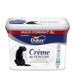 Peinture monocouche pour murs, boiseries et plafonds Crème De Peinture Satin Blanc 6 L Maxi Format - Dulux Valentine de la marque DULUX-VALENTINE image 2 produit