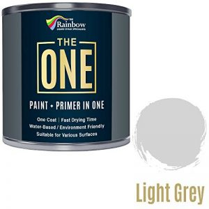 Peinture multi surface pour bois, métal, plastique, intérieur, extérieur, gris clair, mate, 250ml de la marque THE ONE image 0 produit