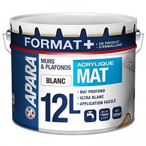 Peinture mur et plafond blanc mat 12 Litres, APARA de la marque APARA image 0 produit
