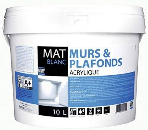 Peinture murs et plafonds Batir 1er - Boîte 2,5 l - Satiné - Blanc de la marque RECA image 0 produit