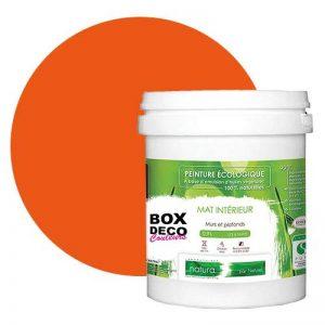 Peinture naturelle écologique aspect Mat NATURA - Tassili - Murale intérieur - 33 couleurs - 1 L - 18 m² (Orange) de la marque BOX-DECO-COULEURS image 0 produit