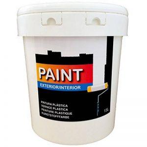 Peinture plastique blanche lavable pour intérieur et extérieur de 15litres (salon salle de bain, chambre, cuisine.) Blanc (15l) envoi en 24/48h. de la marque PAINT image 0 produit