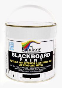 Peinture pour tableau noir - 1 litre Idéal pour créer ou restaurer les tableaux noirs de la marque Rainbow-Chalk-Markers image 0 produit