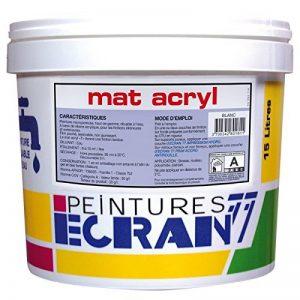 Peinture professionnelle acrylique, mat, intérieur et extérieur, pour murs, plafonds, MAT ACRYL 1 litre Noir de la marque Peintures Daniel image 0 produit