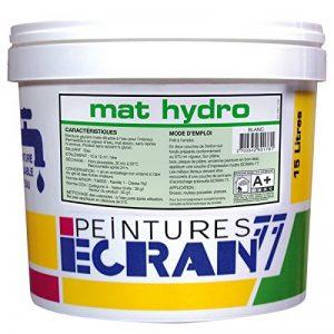 Peinture professionnelle alkyde, mat, murs et plafonds, MAT HYDRO 1 litre Blanc de la marque Peintures Daniel image 0 produit