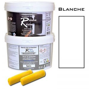 Peinture résine epoxy colorée multisupport +vernis protection satin : idéal carrelage, évier, élaminé - Couleur blanc - 0,5L de la marque Renove Resine image 0 produit