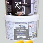Peinture résine epoxy colorée multisupport +vernis protection satin : idéal carrelage, évier, mélaminé - Couleur gris clair RAL 7047 - 0,5L de la marque Renove Resine image 1 produit