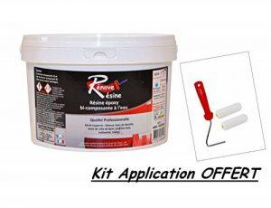 Peinture Résine multisupport pour Faïence, Carrelage, Douche, Baignoire 5m² - RAL 9005 Noirfoncé + Kit d'application OFFERT de la marque COULEURS D ANTAN image 0 produit