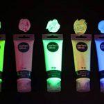 perfect ideaz Peinture Acrylique lumière Noire 5x75ML, 5Couleurs, Forte Concentration de pigments luminescents, Peinture Acrylique avec Effet Luminescent, Brille dans Le Noir avec la lumière UV de la marque perfect-ideaz image 2 produit