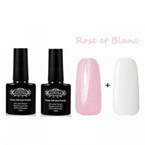 Perfect Summer Kit French Manucure Vernis à Ongles Semi Permanent Blanc Rose Couleur 10mlX2pcs de la marque Perfect-Summer image 0 produit
