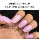 Perfect Summer Kit French Manucure Vernis à Ongles Semi Permanent Blanc Rose Couleur 10mlX2pcs de la marque Perfect-Summer image 1 produit